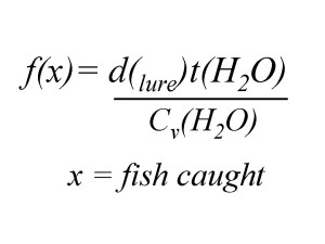 The formula for fishing.