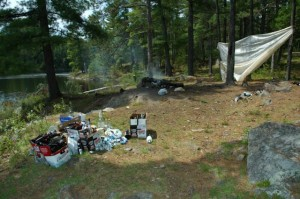 Please don't leave your camp sites like this.