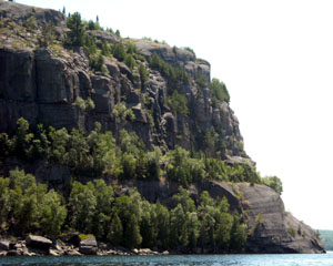The cliffs at Quirk Lake