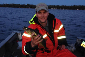 Late evening Balsam Lake walleye